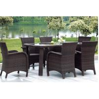 Wholesale synthetic rattan, wicker garden furniture, outdoor dining chair, glass table, #1210 from china suppliers