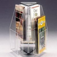 Wholesale Rotating Brochure Acrylic Countertop Display Holder , Durable acrylic display stands from china suppliers