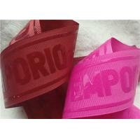Wholesale Shiny Transparent Silicon Logo Screen Printing Label In Coloful Polyester Thread Ribbon from china suppliers