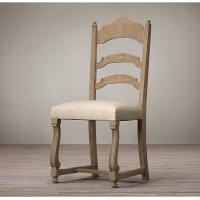 Wholesale Vintage French Style Wooden Ladder Back Side Leather Dining Chair 46 * 51 * 103cm from china suppliers