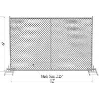 "Quality 1½""(38mm) 1⅗""(40mm) 1⅝""(42mm) 1⅞"" tubing 6'x12' cross brace 16 ga thickness mesh 2¼""x2¼""(57mmx57mm) temporary fence for sale"