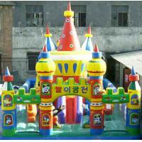 Wholesale Large 0.55mm PVC Inflatable Sports Games , Giant Amusement Park Funcity For Kids Funny from china suppliers