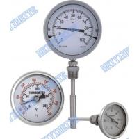 Wholesale Stainless steel crimp bezel bimetallic actuated thermometers with fixed connector from china suppliers