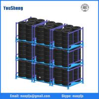 Wholesale Stackable tire shelf folding storage rack from china suppliers