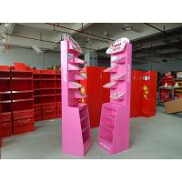 Wholesale Free Standing Cosmetics Display Stands Gloss lamination , Cardboard Advertising Displays from china suppliers
