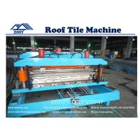 Wholesale Galvanized Steel Roof Tile Roll Forming Machine With Simens PLC Control System from china suppliers