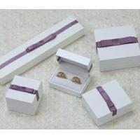 Wholesale Velvet Or Leather Inside Paper Jewelry Boxes For Pierced Earrings / Pendant from china suppliers