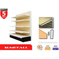 Wholesale MDF Wood Back Gondola Store Shelving , Supermarket Department Store Shelving from china suppliers