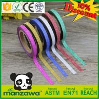 Buy cheap China japanese washi tape wholesale Decorative DIY rice paper tape colorful glitter tape from wholesalers