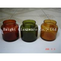 Wholesale colorful glass candle container, candle jar, blown jar from china suppliers