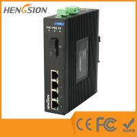 Wholesale 4 Megabit Ethernet / 1 Megabit FX 5 Port Network Switch Din Rail from china suppliers