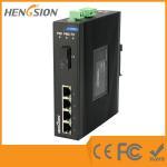 Wholesale 4 Megabit Ethernet / 1 Megabit FX 5 Port Network Switch Din Rail from china suppliers