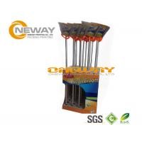 Promotion Broom Cardboard Display Stands Pantone And CMYK Color
