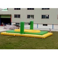 Quality Green n Yellow Adults Inflatable Bossaball Court With Trampoline for sale