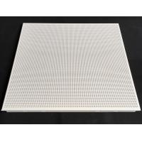 Wholesale Fireproof Perforated Aluminum 0.7mm Thickness / Metal False Ceiling Tiles 600 X 600mm from china suppliers