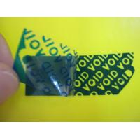 Buy cheap White / Blue / Black Tamper Evident Security Labels With High Residue For Anti-counterfeit from wholesalers