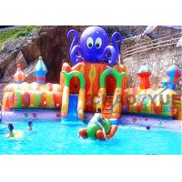 Quality Outdoor 30m 18OZ PVC Octopus Slide Inflatable Aqua Park Inflatable Water Games for sale