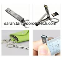 Quality New Design Wholesale Real Nail Cutter USB Flash Drives, Metal Portable USB Pendrives for sale