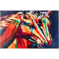 "Wholesale 23""x15"" Overall Size Decorative Hand Painted Abstract Canvas For Colorful Horses from china suppliers"