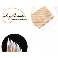 Quality Wood Cusp Cotton Swab Disposable Hygienic Products For PMU & Microblading for sale
