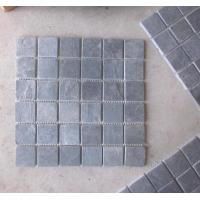 Wholesale Black Slate Mosaic Wall Tile Natural Stone Mosaic Carbon Black Mosaic Pattern Floor Parquet from china suppliers