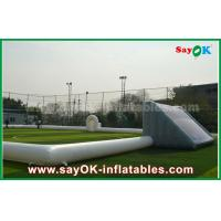 Buy cheap Giant 10m Inflatable Football Field , Portable Inflatable Soccer Field With PVC Material from wholesalers
