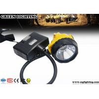 Wholesale Semi Corded Led Miners Lamp With Rear Warning Light , 6.8Ah 3.7V Miner Headlight from china suppliers