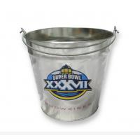 Wholesale Gift / Food Packaging Small Galvenized Metal Tin Bucket With Handle from china suppliers