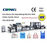 Wholesale Computer Control Non Woven Bag Making Machine , Handle Bag Making Machine from china suppliers