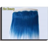 Wholesale Customized Dark Blue Human Hair Virgin Lace Frontal Straight OEM No Shedding from china suppliers