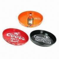 Wholesale Beer bar/pub serving trays, made of tin from china suppliers