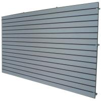 Wholesale Cosmetics Shop Gray Wooden Slatwall Panel With Slots Or Grooves from china suppliers