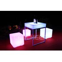 Wholesale Classic PE Plastic Rechargeable Led Cube Stool Chair Glowing Furniture from china suppliers