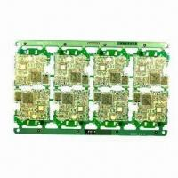 Quality PCB, Made of FR-4, Aluminum-backed Board, Lead-free Compatible, with 0.1mm Minimum Line Width for sale
