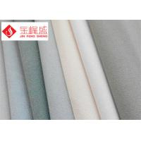 Wholesale White / Grey Velvet Upholstery Fabric Plain for Watch / Glasses Boxes from china suppliers