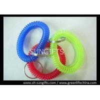Wholesale Translucent wrist key coil with key ring, wrist coil key ring, spiral wrist coils from china suppliers