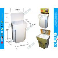 Wholesale White Two Tier Cardboard Display Stands for Cosmetics Stores from china suppliers