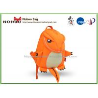 Wholesale Orange Breathable Toddler Rucksacks / Tyrannosaurus Shape Personalized Preschool Backpacks from china suppliers