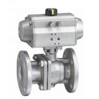 Wholesale ANSI 150LB ASME B16 34 Flange End Ball Valve , Lockable 4 Hydraulic Actuated Ball Valve from china suppliers