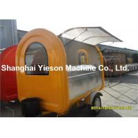 Wholesale Durable European Standard Food Trucks And Trailers Yellow Fiber Glass from china suppliers