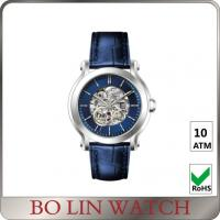 Wholesale Sapphire Glass Mechanical Skeleton Automatic Watch , 10 ATM Automatic Stainless Steel Watch from china suppliers