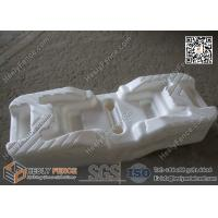 Buy cheap 600X220X150mm HDPE White Color Blow Mould Temporary Mesh Fencing Feet from wholesalers