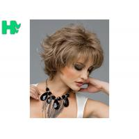 Wholesale 12 Inch Synthetic Hair Curly Short Blonde Wigs 100% High Temperature Wire Wigs For Adult from china suppliers
