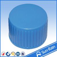 Wholesale 24mm 28mm Ribbed closure blue screw bottle caps child - proof from china suppliers