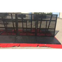 Wholesale Easy Install Black Crowd Safety Barriers Lightweight / Foldable For Revolt Activities from china suppliers