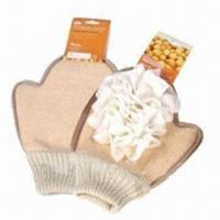 Wholesale Bath gloves, made of soybean fiber from china suppliers