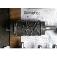 Wholesale Alloy Steel Embossing Roller Chrome Plated , Hardness HRC 62 from china suppliers