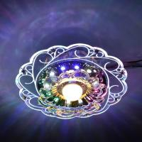 Wholesale Practical-3W LED Crystal Lotus Ceiling Light Flush Lamp Main Warm Light Auxiliary Colorful Light Indoor Lighting Perfe from china suppliers