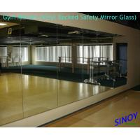 Wholesale 6mm Vinyl Backing Processed Mirror Glass For Fitness Club / Dance Studios from china suppliers