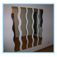 Wholesale Finish Aluminum Sheet Colored Mirror Glass panel , mirror safety glass from china suppliers